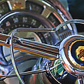 1950 Chrysler New Yorker Coupe Steering Wheel Emblem by Jill Reger