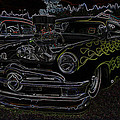 1950 Ford Coupe Neon Glow by Steve McKinzie