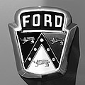 1950 Ford Custom Deluxe Station Wagon Emblem by Jill Reger