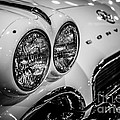 1950's Chevrolet Corvette C1 In Black And White by Paul Velgos