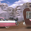 1950s Family Vacation Panoramic by Mike McGlothlen