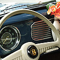 1952 Volkswagen VW Bug Steering Wheel Print by Jill Reger