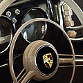 1954 Porsche 356 Bent-Window Coupe Steering Wheel Emblem Print by Jill Reger