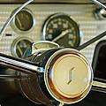 1955 Studebaker President Steering Wheel Emblem Print by Jill Reger
