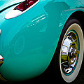 1956 Baby Blue Chevy Corvette Print by David Patterson