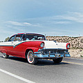 1956 Ford Crown Victoria Cruising the New Mexico Desert