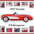 1957 Chevrolet Corvette Art by Jill Reger