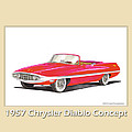 1957 Chrysler Diablo Convertible Coupe Poster by Jack Pumphrey