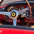 1960 Ferrari 250 Gt Cabriolet Pininfarina Series II Steering Wheel Emblem by Jill Reger