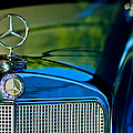 1960 Mercedes-benz 220 Se Convertible Hood Ornament by Jill Reger