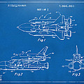 1975 Space Shuttle Patent - Blueprint by Nikki Marie Smith