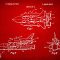 1975 Space Shuttle Patent - Red by Nikki Marie Smith