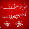 1975 Space Vehicle Patent - Red by Nikki Marie Smith