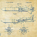 1975 Space Vehicle Patent - Vintage by Nikki Marie Smith