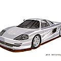 1991 Mercedes Benz C 112 Concept by Jack Pumphrey