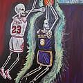 1997 Kobe Vs Jordan by Visual  Renegade Art