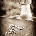 1911 Ford Model T Torpedo 4 Cylinder 25 Hp Hood Ornament - Emblem by Jill Reger