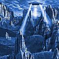 Alien Planet In Blue by Mike McGlothlen