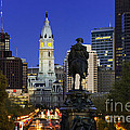 Ben Franklin Parkway And City Hall by John Greim
