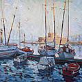 Boats In Rhodes Greece  by Ylli Haruni