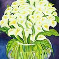 Calla Lilies Print by Laila Shawa