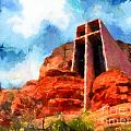Chapel Of The Holy Cross Sedona Arizona Red Rocks by Amy Cicconi