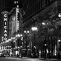 Chicago Theatre At Night by Christine Till