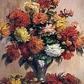 Dahlias by Pierre-Auguste Renoir