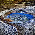 Dead Sea sink holes Print by Dan Yeger