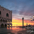 Doges Palace At Sunrise Venice Italy by Matteo Colombo
