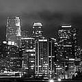 Gotham City - Los Angeles Skyline Downtown At Night by Jon Holiday