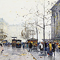 La Madeleine Paris by Eugene Galien-Laloue