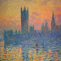 Monet's The Houses Of Parliament At Sunset by Cora Wandel