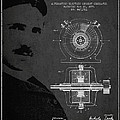 Nikola Tesla Patent from 1891 Print by Aged Pixel