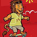 skateboarding Lion  by Martin Davey