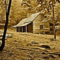 Smoky Mountain Cabin by Frozen in Time Fine Art Photography