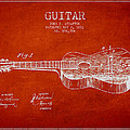 Stratton Guitar Patent Drawing From 1893 by Aged Pixel