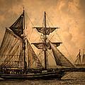Tall Ships Print by Dale Kincaid