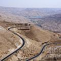 The Kings Highway At Wadi Mujib Jordan by Robert Preston