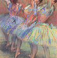 Three Dancers by Edgar Degas