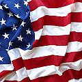 Usa Flag by Les Cunliffe
