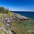 View of Rock Harbor and Lake Superior Isle Royale National Park Poster by Jason O Watson
