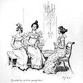 Scene From Pride And Prejudice By Jane Austen by Hugh Thomson