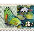 3 Cent Butterfly Stamp by Amy Kirkpatrick