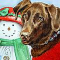 Christmas Print by Irina Sztukowski