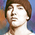 Eminem - Stylised Drawing Art Poster by Kim Wang