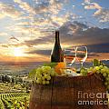 Vine Landscape In Chianti Italy by Tomas Marek