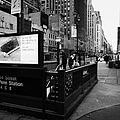 34th Street Entrance To Penn Station Subway New York City Usa by Joe Fox