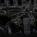 35 Ford Coupe Neon Glow by Steve McKinzie
