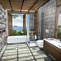 3d Tropical Bathroom by Thanes